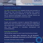 Call for Proposals : ( The  RSIF Cooperability Grants).