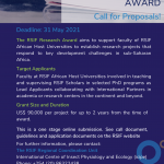 Call for Proposals : The RSIF Research award